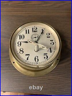 Vintage Seth Thomas Maritime Boiler room Ships Clock