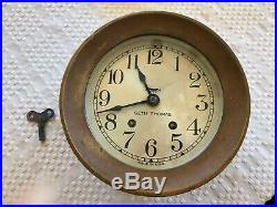 Vintage Seth Thomas Maritime Ships Bell Clock