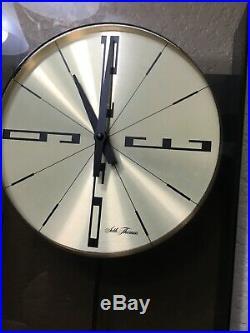 Vintage Seth Thomas Pendulum Wall Clock Mcm Mid Century Modern