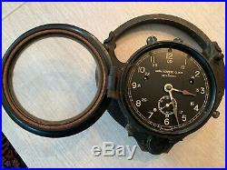 Vintage U. S. Navy WW2 Arma Zig-Zag Course Clock by Seth Thomas, Serial Number 37