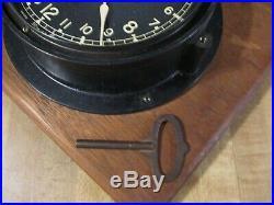 Vintage WWII Seth Thomas U. S. Navy (61009-E) 24 Hour ClockRareMade in USA