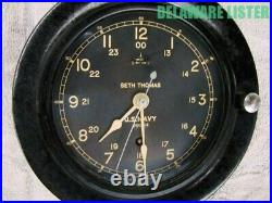 Vintage WWII WW2 US Military U. S. NAVY SHIP Nautical CLOCK SETH THOMAS
