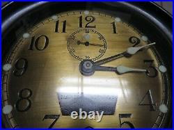 WW2 US Navy 1942 Seth Thomas Mark I-Deck Clock Bakelite Case Brass Face