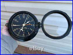 WWII Chelsea US Army 6 dial ships clock