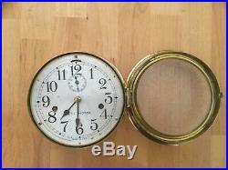 WWII Seth Thomas 5 1/2 in Merchant Ships Clock